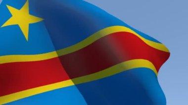 Flag of Democratic Republic of the Congo — Stock Video