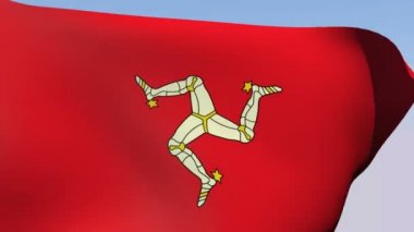 Flag of the Isle of Man — Stock Video