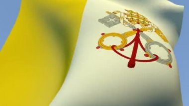 Flag of the Vatican City — Stock Video