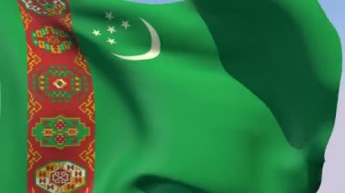 Flag of Turkmenistan — Stock Video