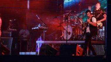'Enter Shikari' performance at the rock festival 'The Best City' — Stock Video