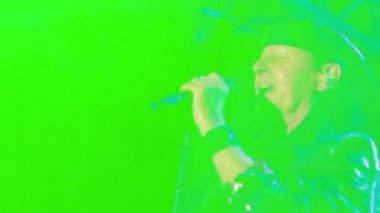 Scorpions performance at the rock festival 'The Best City' — Stock Video
