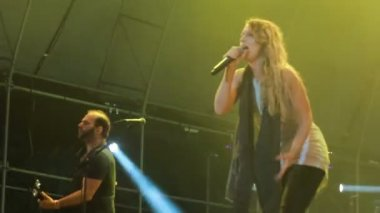 'Guano Apes' live performance at the rock festival 'The Best City' — Stock Video