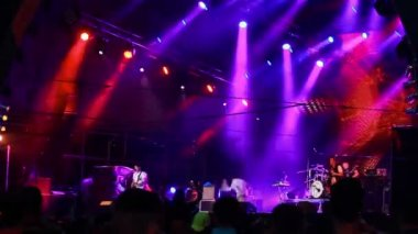 'Enter Shikari' performance at the rock festival 'The Best City' — Stock Video