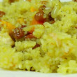 Appetizing pilaf — Stock Video
