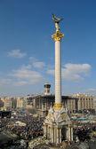 Stele of Independence in Euromaydan, Kiev, Ukraine. — Stock Photo