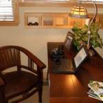 pequeno escritório em casa — Foto Stock