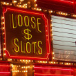 Loose slots neon sign in las vegas — 图库照片