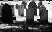Tomba del settecento molto vecchio cantiere in bianco e nero — Foto Stock
