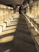 Moving sidewalk — Stock Photo