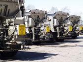 Sanding trucks — Stock Photo