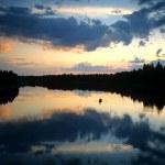 Evening fishing — Stock Photo