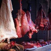 Mięso wiszące — Zdjęcie stockowe