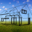 House concept in outlines — Stock Photo