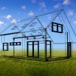 House concept in outlines — Stock Photo #14297579