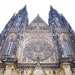 Exteriour of Prague cathedral — Stock Photo