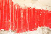 Red and white abstract wall detail — Stock Photo