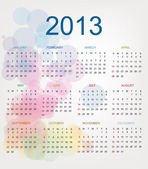 Calendar for Year 2013 — Stock Vector