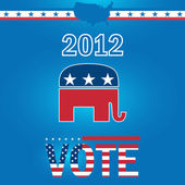 Vote Republican 2012 — Stock Vector