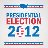 United States Presidential Election in 2012 — Stock Vector