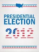 Spojené státy americké prezidentské volby v roce 2012 — Stock vektor