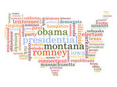 United States Election Word Cloud Map — Stockvector