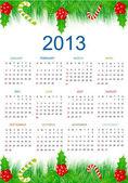 Christmas 2013 Calendar — Stock Vector