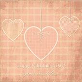Vector cartolina di san valentino, dot design della — Vettoriale Stock
