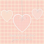 Vector St Valentine Day's Greeting Card, Dot Design — Stock Vector