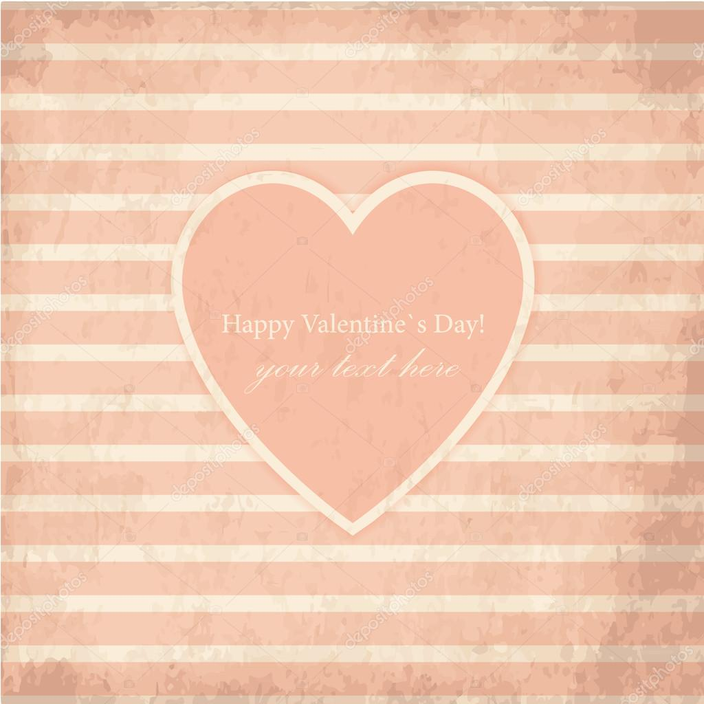 Vector St Valentine Day's Grunge Greeting Card — Stock Vector #19580841