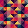 Colorful Seamless Pattern with Triangles - Imagen vectorial