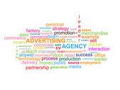 Advertising Agency Word Cloud — Stock Vector