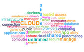 Cloud - Word Cloud — Stock Vector