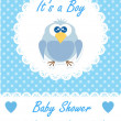 Its a boy baby with cute owl. Baby shower design. vector illustration — Stock Vector #31311313