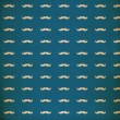 Stock Photo: Seamless pattern with mustache