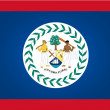 Flag of Belize — Stockvectorbeeld