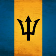 Stock Vector: Grunge Flag of Barbados