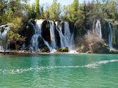 Beautiful view at waterfalls — Stock Photo