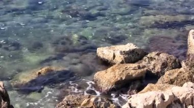 Rocks in sea — Stock Video #13048833