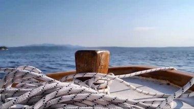 Boat at anchor — Stock Video