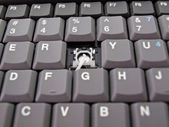 Botón roto en el teclado — Foto de Stock
