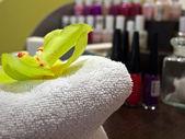 化粧品の職場をクローズ アップ — ストック写真