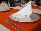 Elegance table in restaurant — Stock Photo