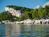 Biokovo mountain and adriatic sea landscape — Stock Photo