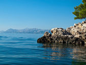 Rocky coast in Croatia — Stock Photo