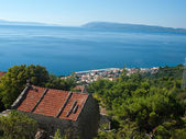 View at small tourist destination in Dalmatia — Stock Photo