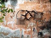 Traditionelle Küche Werkzeuge an Wand — Stockfoto