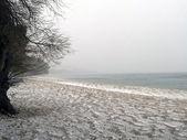 Zima na pláži — Stock fotografie