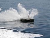 Wakeboard crash on sea — Stock Photo