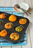 Pumpkin and Cheese Muffins — Stock Photo